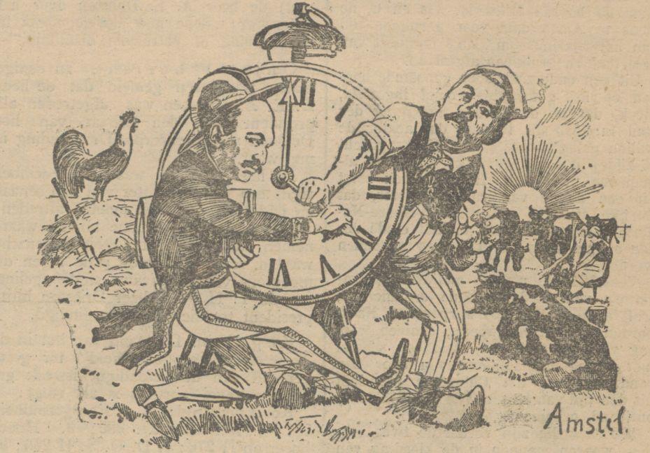 Afbeelding uit de Delftsche courant van 20 februari 1924 - Onderschrift: