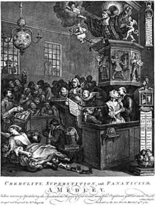 Pamflet over de geruchtmakende konijnenkwestie (Publiek Domein - William Hogarth - wiki)