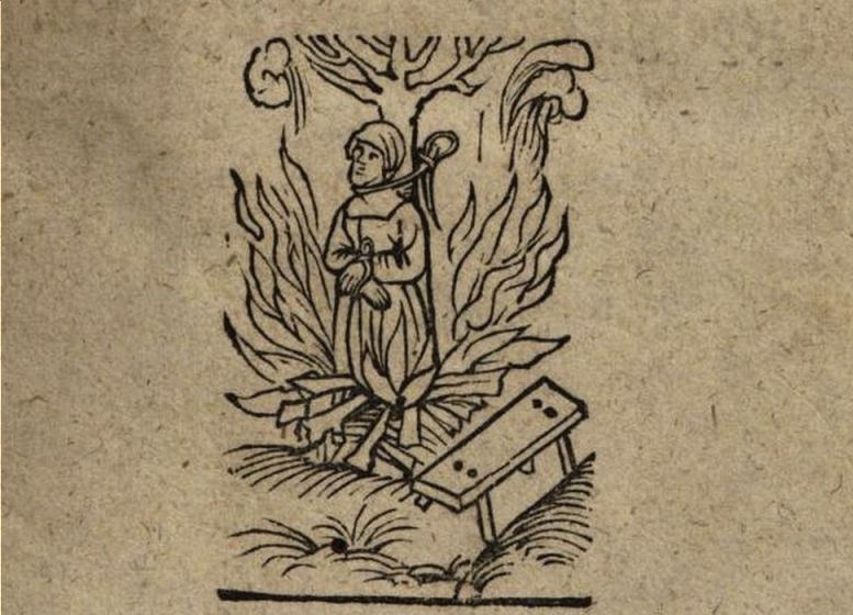 Wendelmoet Claesdochter op de brandstapel