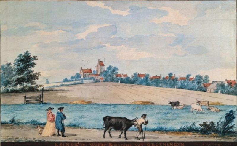 Wierdendorp Ezinge (Publiek Domein - Aert Schouman - Groninger Museum)