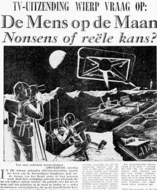 Artikel van A. Huguenot van der Linden in de Telegraaf van 7 november 1959 (Delpher)