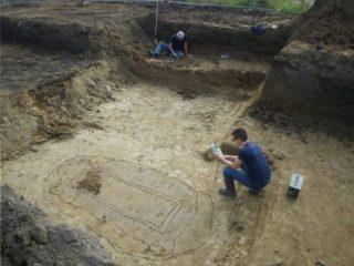 Opgraving in Lent, waarbij het potje werd gevonden - Foto: Gemeente Nijmegen