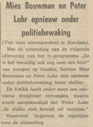 Nieuwsblad van het Noorden,  31-01-1964 (Delpher)