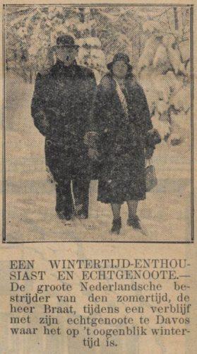 Boer Braat in De Sumatra Post van 2 maart 1931 (Delpher)
