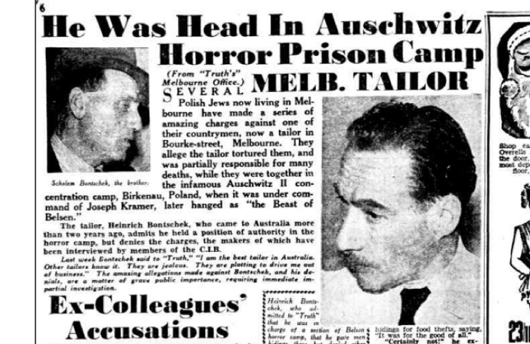 De Melbourne Truth van 11 december 1949. (Trove – National Library of Australia) Uit: Van kleermaker tot kapo.
