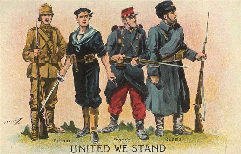 Ansichtkaart uit de Eerste Wereldoorlog