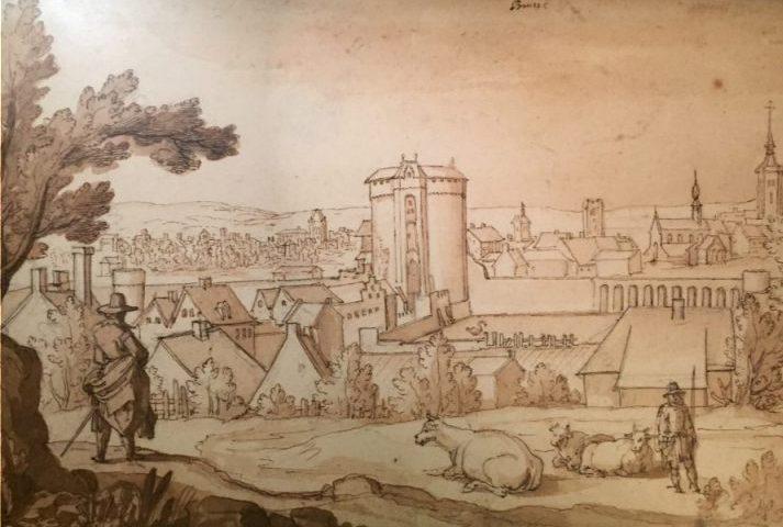 Brusselse republiek - Zicht op Brussel, Remigio Cantagallina, ca. 1612