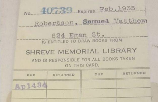 De Amerikaanse moest het boek eigenlijk in februari 1935 inleveren... (Shreve Memorial bibliotheek)