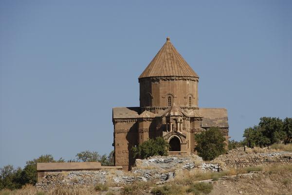 De Armeense kerk op het eiland Akdamar in het Van-meer
