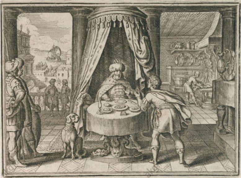 De ring van Polykrates - Matthäus Merian, 1630 (Publiek Domein - wiki)