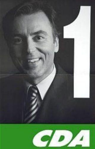 Elco Brinkman op de verkiezingsposter van het CDA, 1994 (verkiezingsaffiches.nl)