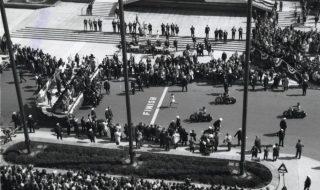 Finishlijn van de Boston Marathon in 1966 (CC BY 2.0 - City of Boston Archives - wiki)