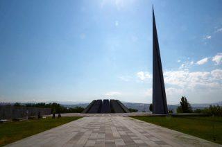 Het monument voor de Armeense Genocide in Yerevan