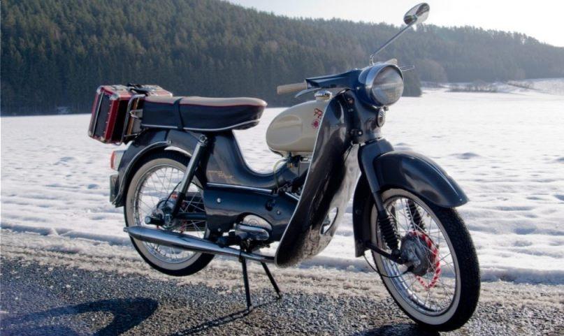 Kreidler-motorfiets uit 1966 (CC BY-SA 3.0 - Migebuff - wiki)