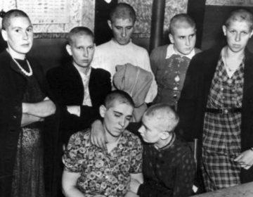 Nederlandse vrouwen die na de oorlog kaalgeschoren werden (CC0 - wiki)