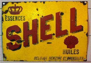 Oude reclameplaat van Shell (CC0 - wiki)