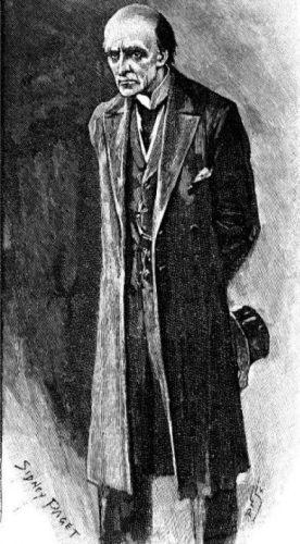 Professor Moriarty, tekening van Sidney Paget, 1893 (Publiek Domein – wiki)
