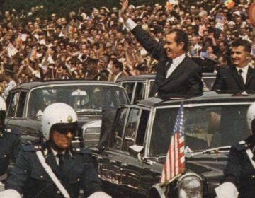 Richard Nixon en Nicolae Ceaușescu tijdens een bezoek aan Roemenië in 1969 (Publiek Domein - US government)