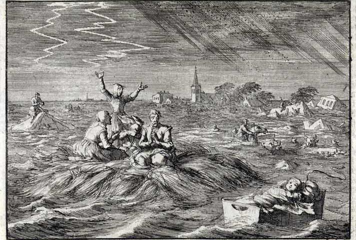 Watersnood in Groningen, 1686 (Rijksmuseum)