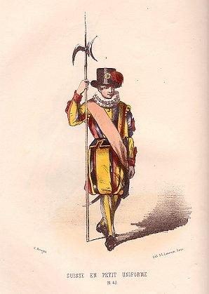 Zwitsers gardist, rond 1850