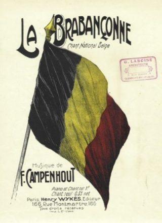 Partituur van de Brabançonne van ongeveer 1910 (Publiek Domein - wiki)