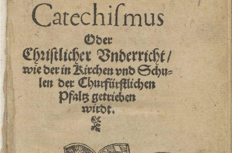 Titelblad van de uitgave van de Heidelbergse Catechismus uit 1563 (Publiek Domein - wiki)
