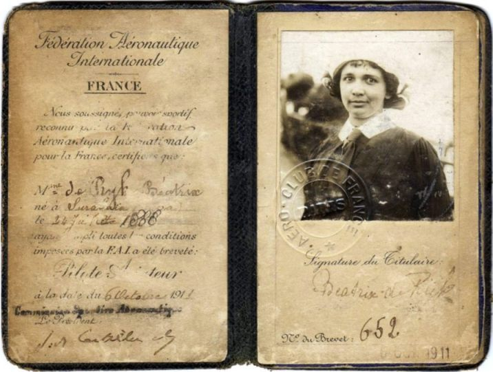 Beatrix de Rijk, door onbekende fotograaf, ongedateerd (Prieur-Branger / Collectie musée de l'Air et de l'Espace - Le Bourget)