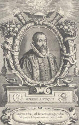 Justus Lipsius door Cornelis Galle I