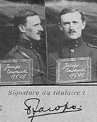 De enige foto van Constantin Jacobs uit zijn militair dossier