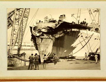 Beschadigde boek van de Oranje (Scheepvaartmuseum Amsterdam)