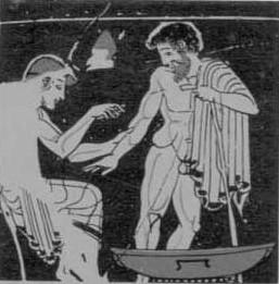 Aderlating op een oude Griekse vaas