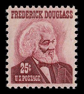 Amerikaanse postzegel met daarop de beeltenis van Frederick Douglass