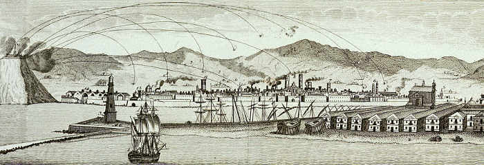 Bombardement van Barcelona vanaf de Montjuïc, 1842