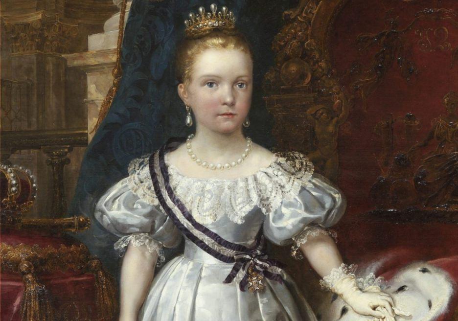 Isabella II van Spanje als kind - Carlos Luis de Ribera y Fieve (Publiek Domein - wiki)