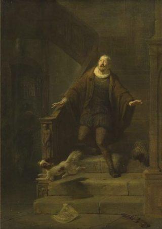 De moord op Willem van Oranje. Historiestuk van Barend Wijnveld, 1835/1897; Amsterdam Museum.