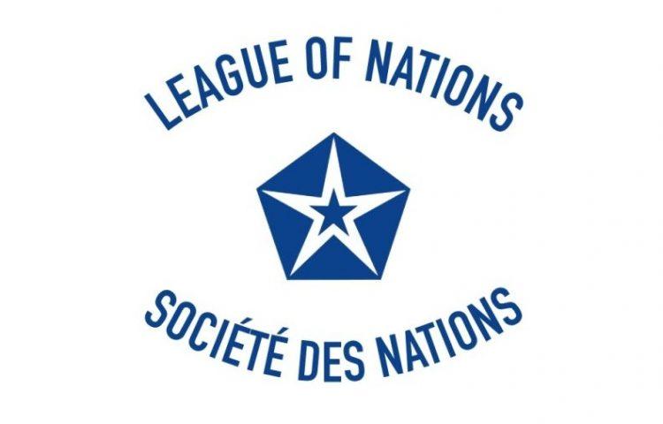 Semi-officiële vlag van de Volkenbond, van 1939 tot 1941