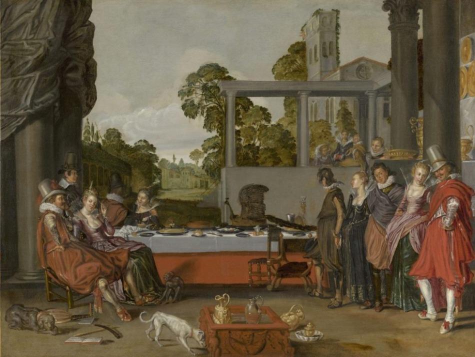 Vrolijk gezelschap in de open lucht, circa 1616-1617 - Willem Buytewech (Mauritshuis, Den Haag)
