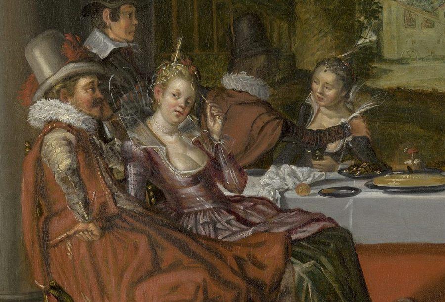 Vrolijk gezelschap in de open lucht (1616-1617) - Willem Buytewech