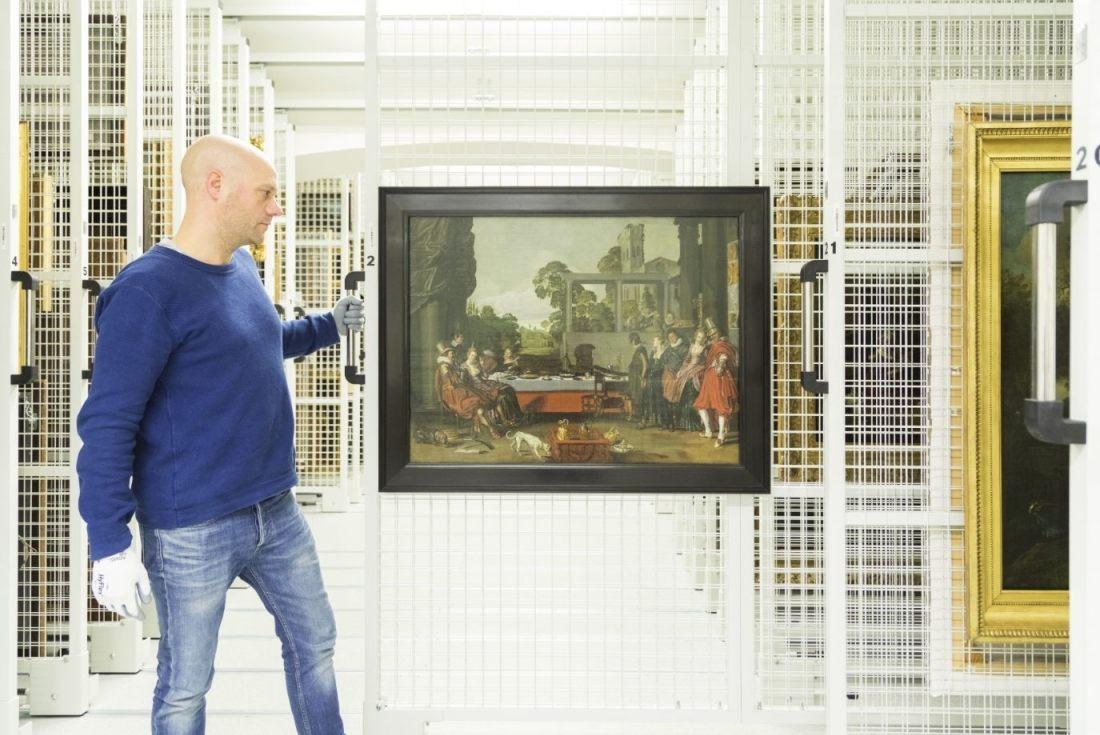 Het schilderij in het museum - Foto: Ivo Hoekstra / Mauritshuis, Den Haag