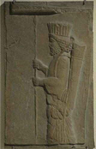 Een Perzische soldaat (Rijksmuseum van Oudheden, Leiden)