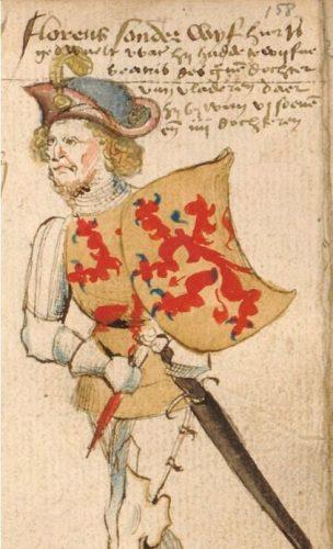 Floris V - Hendrik van Heessel, vijftiende eeuw (Publiek Domein - wiki)