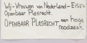 """""""Wij – vrouwen van Nederland – eisen openbaar plasrecht!"""""""