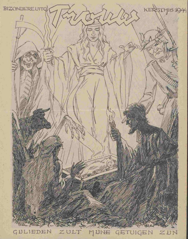 Coverafbeelding uit Trouw tijdens de Hongerwinter van 1944 (Delpher)