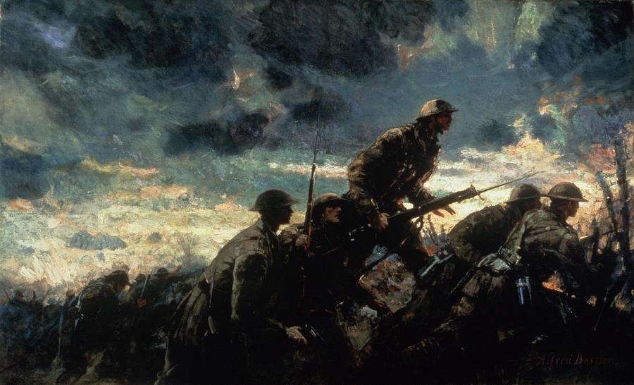 Over the Top, Neuville-Vitasse - Alfred Bastien, 1918 - Canadian War Museum (Publiek Domein - wiki)