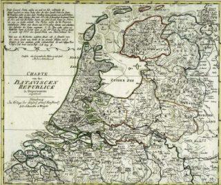 Bataafse republiek rond 1801 (Publiek Domein - wiki - Univeristeits Bibliotheek Bern)