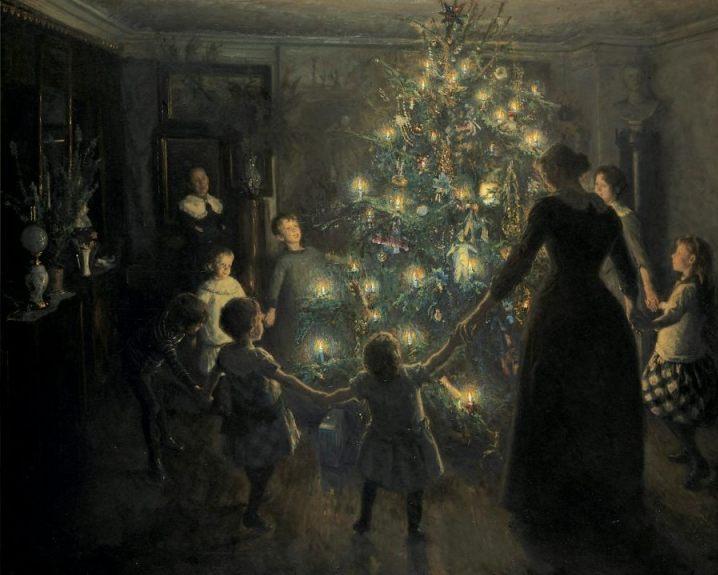 Dansen rond een kerstboom - Viggo Johansen, 1891