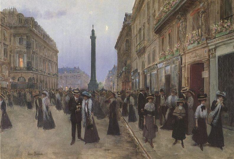 De Vendôme-zuil gezien vanuit de Rue de la Paix, geschilderd door Jean Béraud