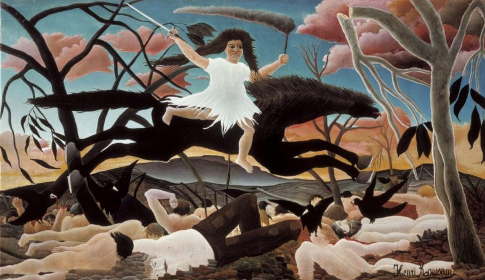 De oorlog door Henri Rousseau, 1894