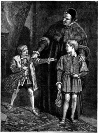 Edward VI en zijn 'Whipping Boy' - Walter Sydney Stacey, 1882 (Publiek Domein - wiki)