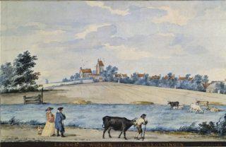 Ezinge in het Westerkwartier van Groningen - Aert Schouman - Groninger Museum (Publiek Domein - wiki)